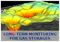 Long-term monitoring for gas storages