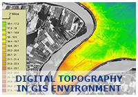 Digital Topography in GIS environment
